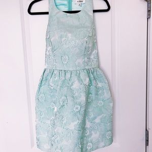 Adorable mint dress with fun open back